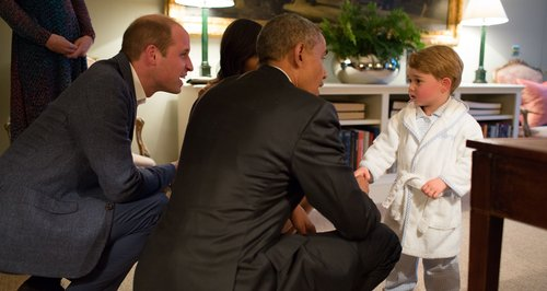 President Barack Obama and Prince William with Pri