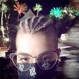 Kelly Osbourne lilac cornrows