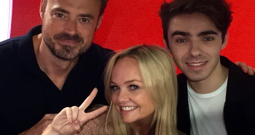 Jamie and Emma with Nathan Sykes