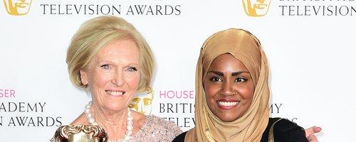Nadiya Hussain and Mary Berry at the BAFTA TV Awar