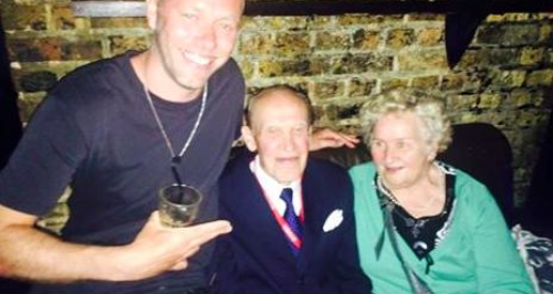 Elderly couple clubbing