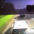 A46 crash dashcam video still