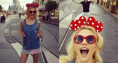 Pixie Lott at Disneyland