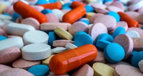 pills drugs stock image