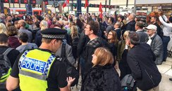 brighton rail protest