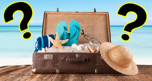 Travel packing question marks