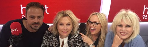 Jennifer Saunders And Joanna Lumley With Jamie And
