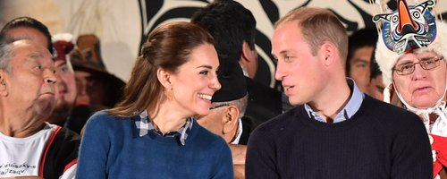 Kate Middleton and Prince William talking