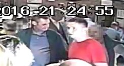 CCTV of two men after Glasgow pub attack