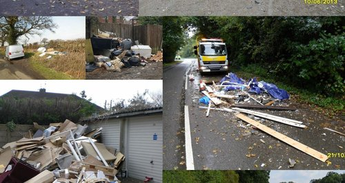 Rubbish montage from Hertsmere