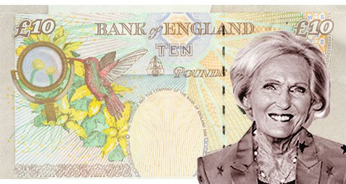 Mary Berry Bank Note