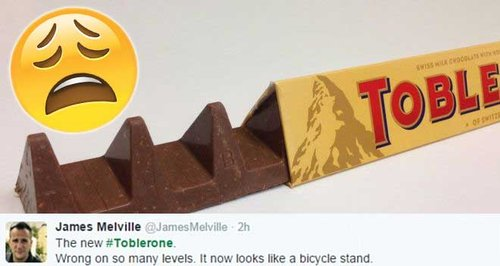 Toblerone new shape of chocolate bar