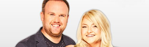Heart Drivetime presenters Paul & Lynne