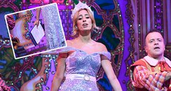 Stacey Solomon Reading From Script In Panto