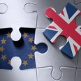 Brexit jigsaw puzzle stock image