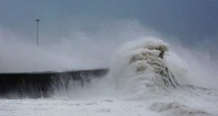 Storm waves Dover