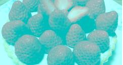 Strawberries Optical Illusion