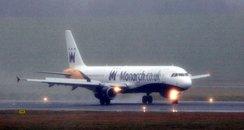 Monarch Flight Birmingham Airport