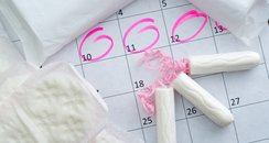 Calendar with sanitary products on it
