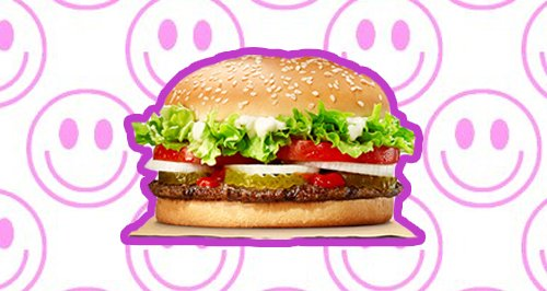 Whopper Burger Canvas