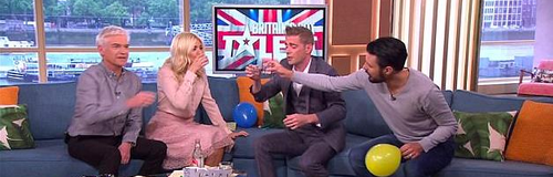 Holly Willoughby and Philip Down Tequila