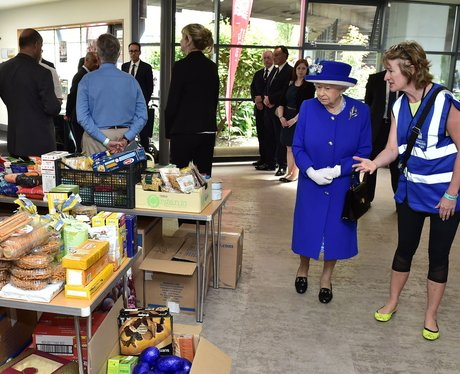 Queen Elizabeth II visit shelter after disaster