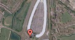 Google satellite image of Ashford Designer Outlet